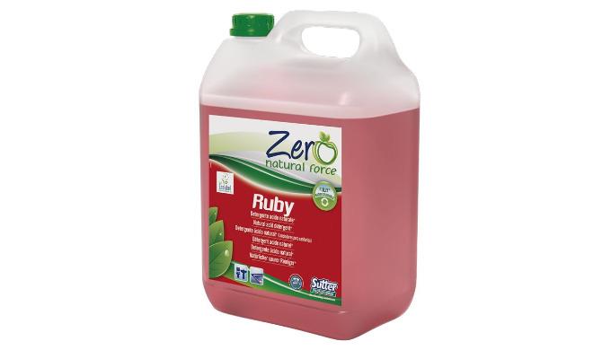 RUBY est un détergent désincrustant naturel acide de haute efficacité pour la salle de bain. RUBY combat la formation de