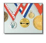 sports medals & ribbons