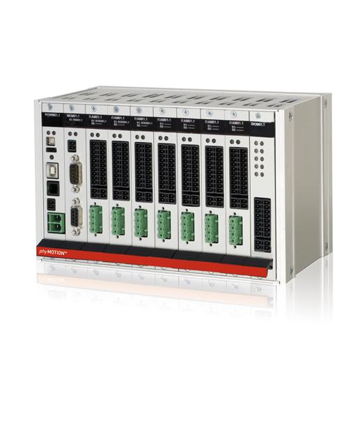 Schrittmotorsteuerung phyMOTION®: modular, kompakt und frei programmierbar.
