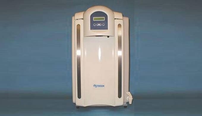 Combining reverse osmosis and ion exchange technologies this smart water purification system provides a high quality and