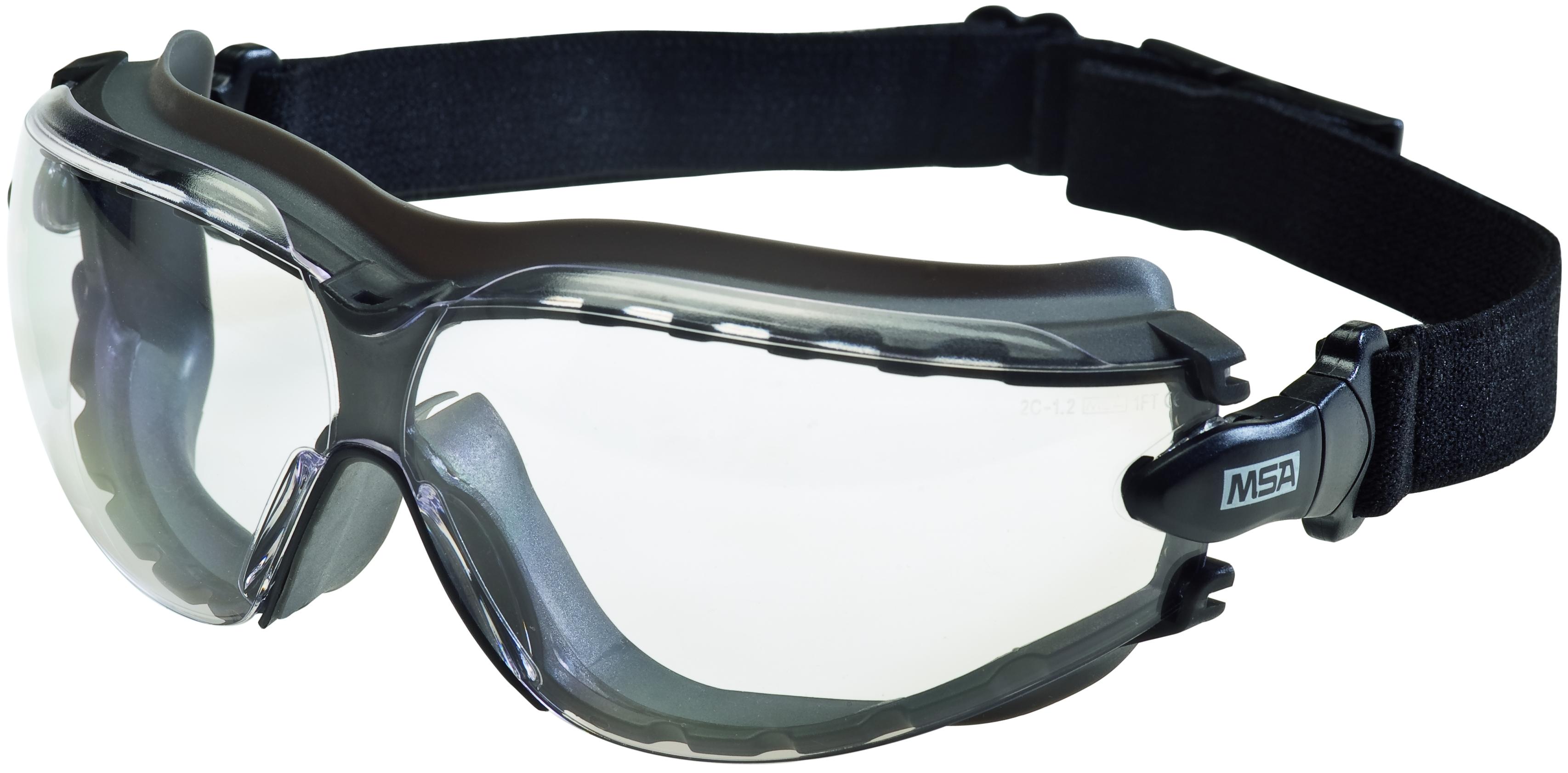 Combinaison lunettes à branches & lunette-masques - Lunettes enveloppantes : Oculaire incolore PC 9.5 - Excellente étanc