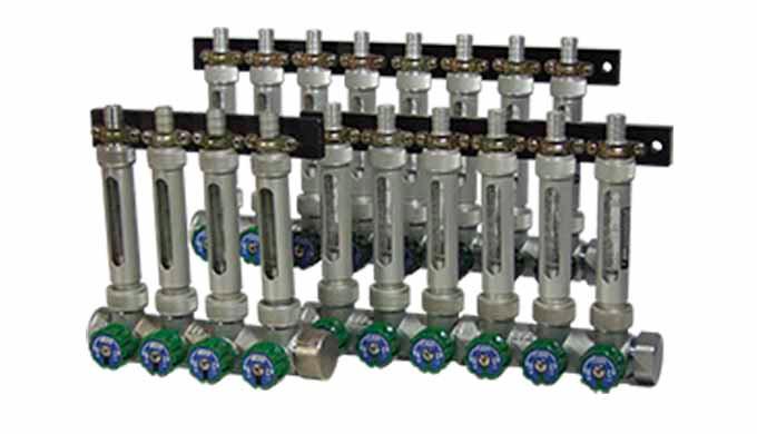 Messbereich: 0,04 - 0,4 ... 1 - 10 l/min Wasser Genauigkeit: Klasse 2,5 gemäß VDI/VDE 3512 pmax: 16 bar tmax: +100°C (Me