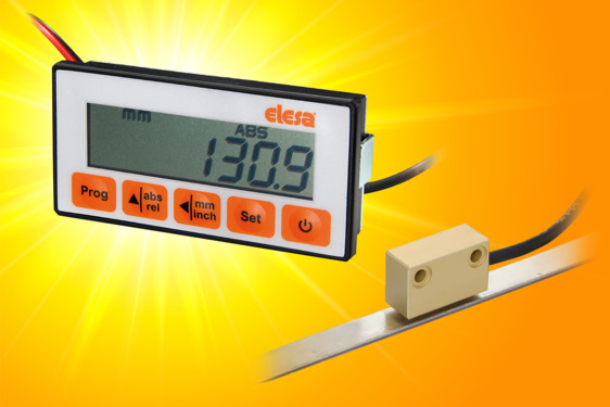 The magnetic measurement system utilises a magnetic band and non-contact sensor to provide highly accurate repeatable me