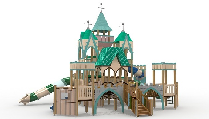 It is a playground inspired by children's favorite subjects such as fairy tale, vehicles, castles, etc. There are a vari