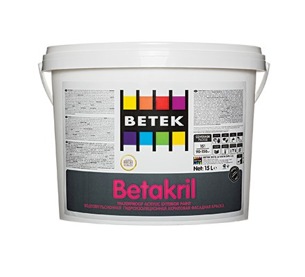 Acrylic copolymer emulsion-based, matte-looking, exterior top-coat paint that is improved with pigment and filler system