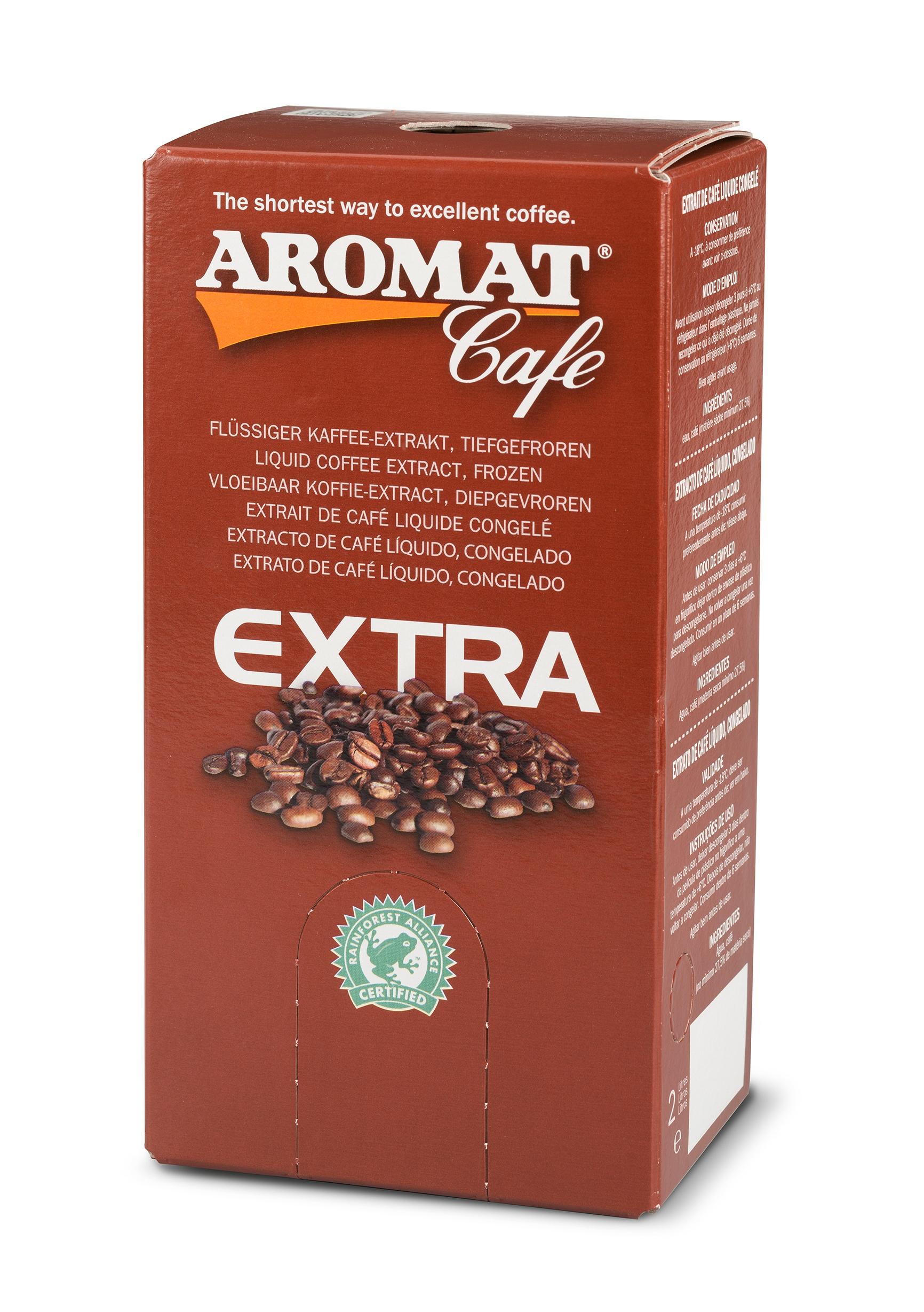 Tiefgefrorener flüssiger Kaffeeextrakt für die Zubereitung jeder gewünschten Kaffeemenge über eine Flüssigkaffeemaschine