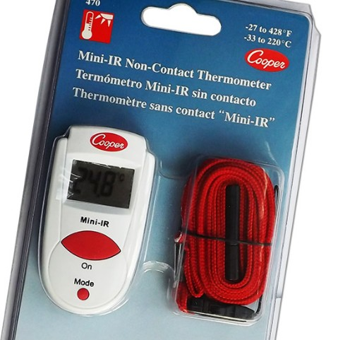 This pocket-sized infrared non contact thermometer is a simple tool for measuring exterior temperature. Taking less than