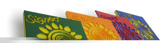 Plastové desky pro reklamní průmysl - víceúčelové desky Signeo Signeo je nový materiál pro reklamní průmysl. Víceúčelové