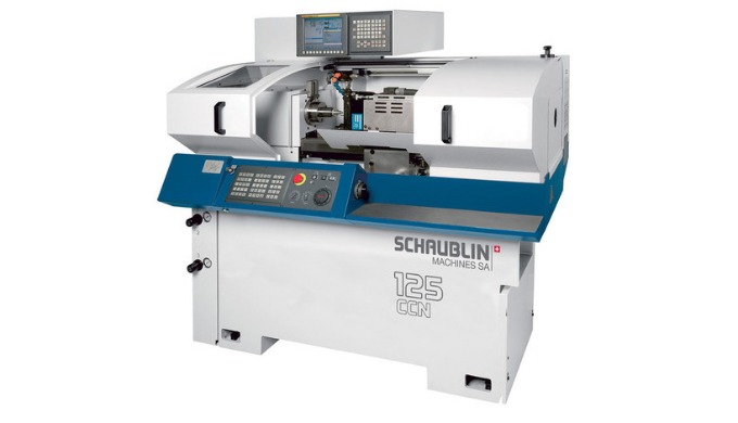 Schaublin 125-CCN Hochpräzisions-Drehmaschine mit drei simultanen Achsen