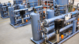 Reverse osmosisunits (RO units) Reverse osmosis unitsare used for production of demineralized water without use of hyd