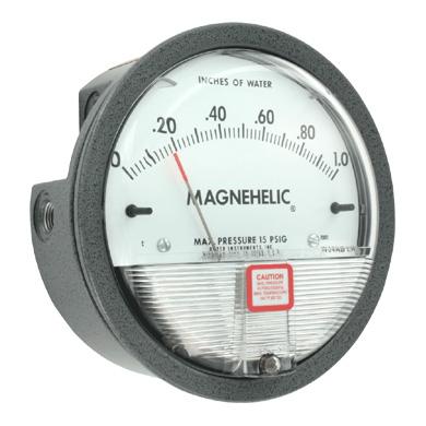 Le principe du Magnehelic®, mouvement sans friction, est la garantiepermettant l'indication de basses pressions, dépress