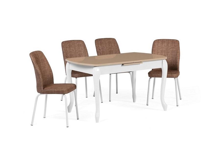 EN 943 Lukens Cappuccino Dining Set