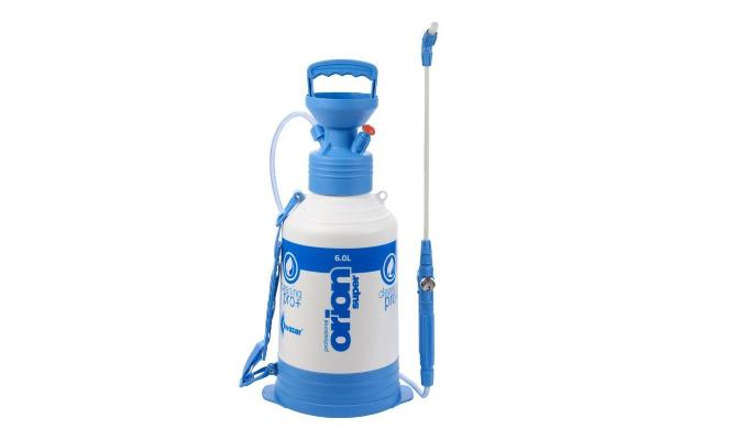 Capacité : 6 litres • Joints « Viton » : résistants aux produits acides • Lance de 40 cm avec indicateur de pression • L