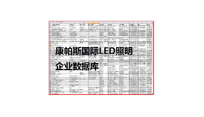 国际LED照明企业数据库