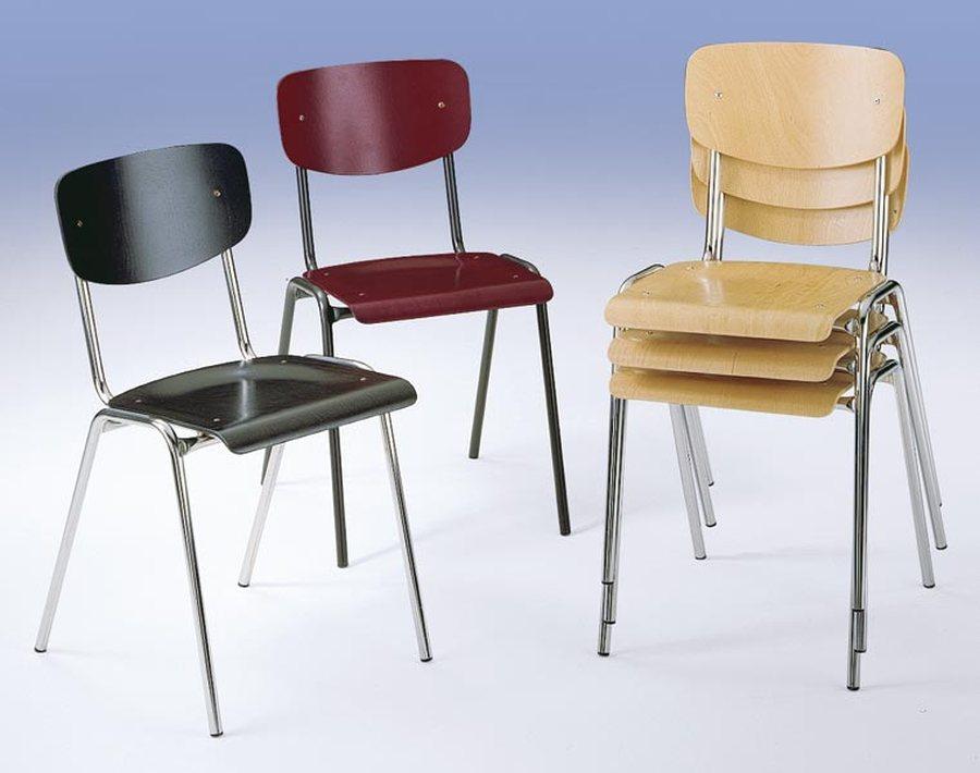 div. Farben / Gestell verchromt Der preiswerte Klassiker Sitze und Rückenlehnen aus Buchenschichtholz, anatomisch geform