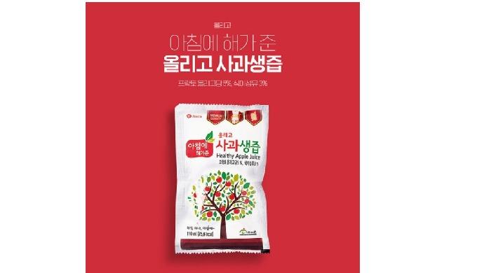 아침에 해가준 apple juice has produced through strict hygiene treatment with premium raw materials from Yesan. Based on its ex