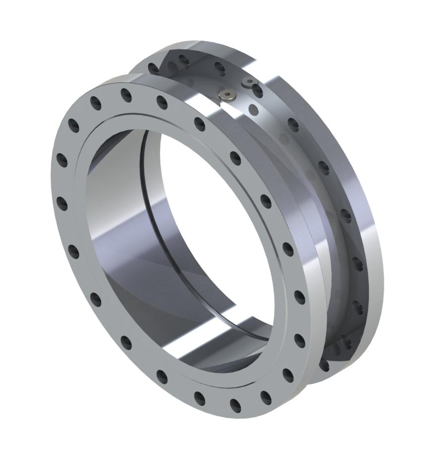 Direktflanschdesign, Nennweiten 50-300 Produkteigenschaften: Stahl (42CrMo4) oder Edelstahl (1.4571) PTFE-Compound-Dicht