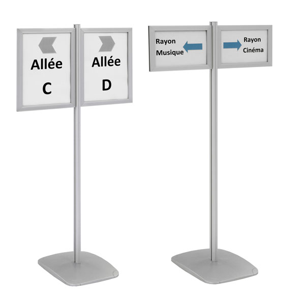 INFO-DISPLAYS® DOUBLE-FACE H 133 CM