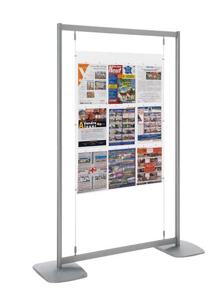 Idéal pour afficher et communiquer dans: salle d'exposition, hall d'accueil, agence, vitrine, là où il n'est pas possibl