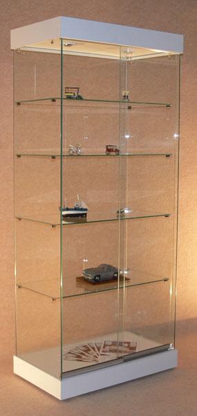 Transparente, pour la mise en valeur des objets exposés Fabrication 100% en verre Sécurit trempé épaisseur 5 mm Portes