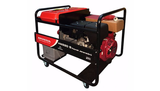 You can guarantee your welding performance with Honda HW series welding generators. Gasoline - 5,5kVA Honda GX 390 Engin