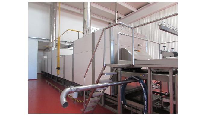 Planta completa de almacenado, dosificado y amasado AGRIFLEX totalmente automàtica. Línea automàtica de Magdalenas (muf