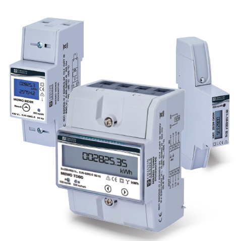 Submeters for measuring active energy consumption on a single-phase or three-phase network up to 80 A. A solution compli