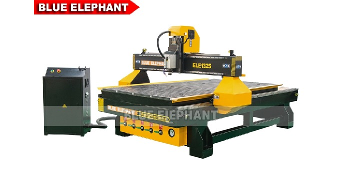 Features: 1. The machine was designed with Italy HSD air cooling spindle, which is similar to 1325 CNC Router with Rolle