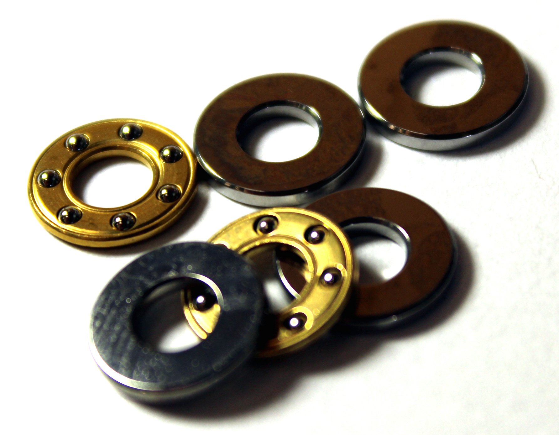 Miniature thrust bearings (or axial bearings) are available with bore sizes as small as 3mm. Miniature thrust bearings a
