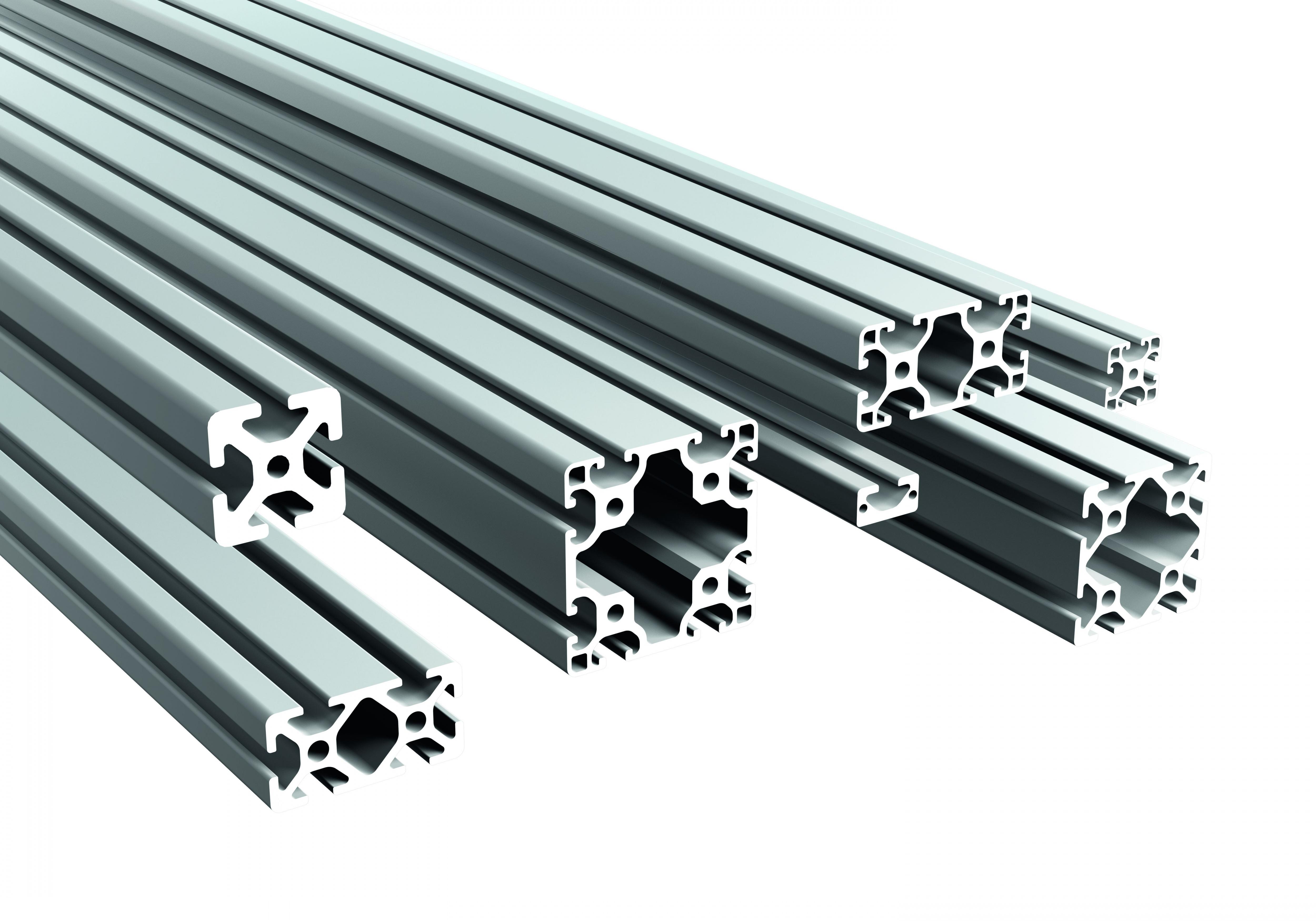Robuste, kratzfeste und korrosionsgeschützte Aluminiumprofile. Die warmausgehärteten Halbzeuge mit rechteckigem Querschn