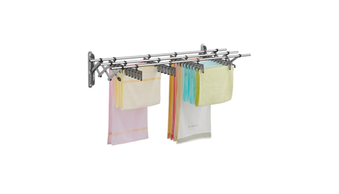 Multipurpose uses : drying rack, shelf and hanger. More effective use of a narrow residential space.
