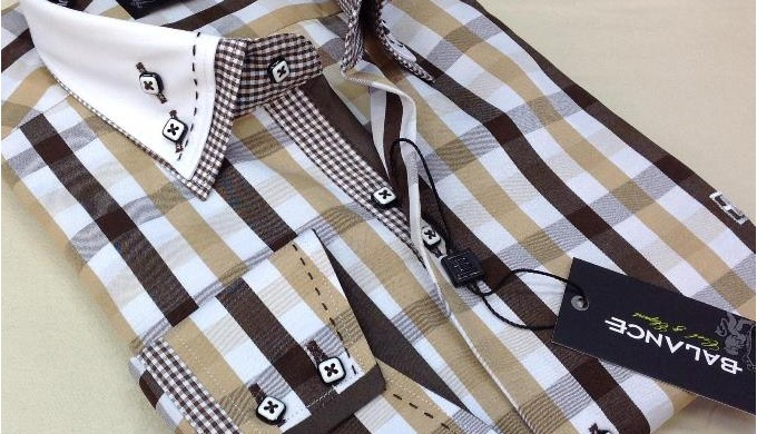 High quality double collar men's shirts with trimming.....