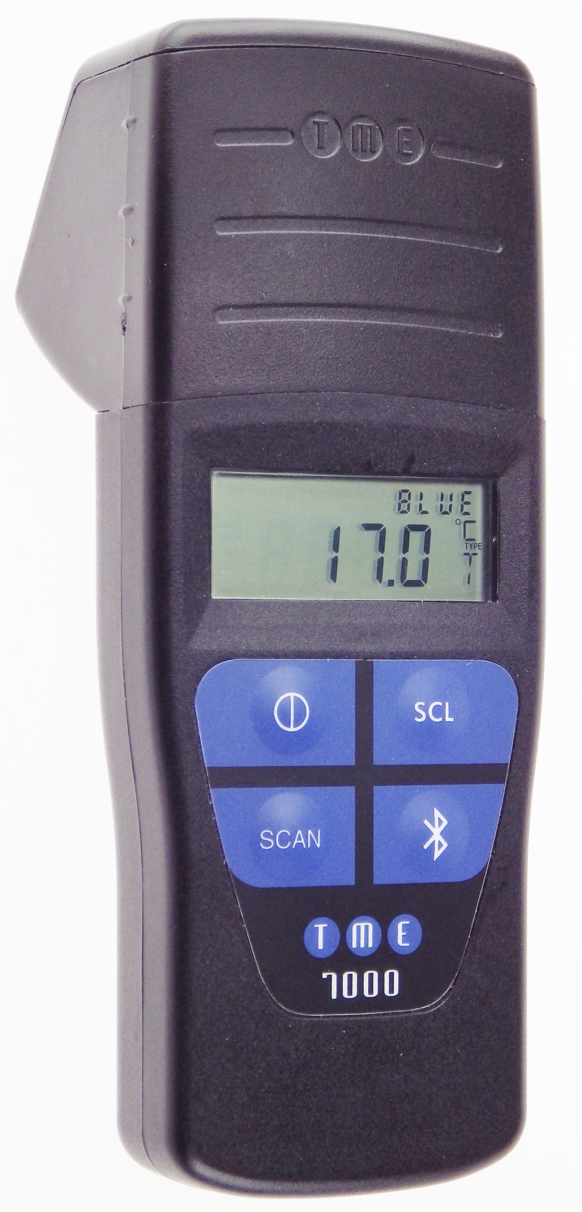 With a Barcode Scanner to record product information, and USB interface for easy downloading, this Thermocouple Thermome