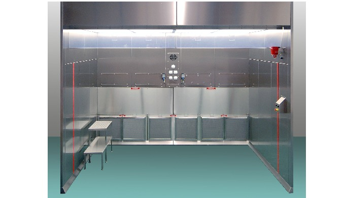 Hosokawa Downflow Booths offer a safe working zone for operatives. They provide protection from harmful, hazardous, toxi