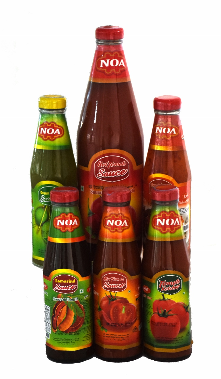 Hot Tomato Sauce, Tomato Ketchup, Green Mango Sauce, Tamarind Sauce