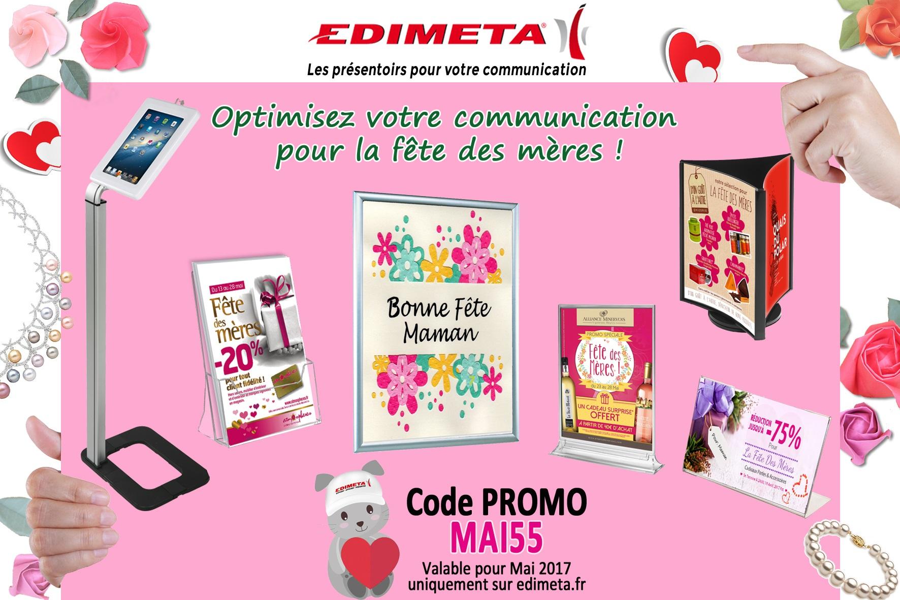 EDIMETA - Code promo pour mai 2017