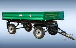 Remorca autodescarcabila pentru tractor2-PTS-4,5este destinata pentru transportarea prosuselor agricole pe diferite ti