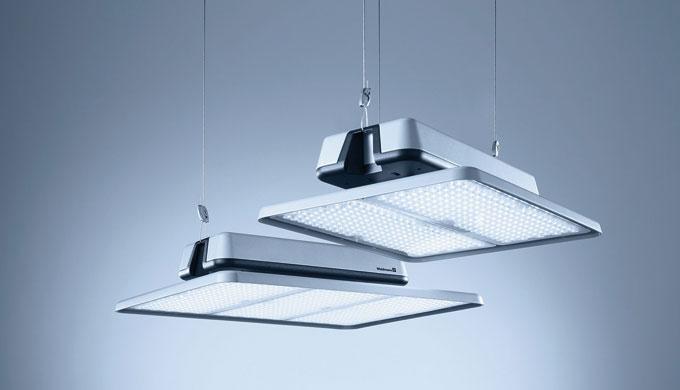 ACANEO ist die ideale Lösung zur flächigen Grundausleuchtung von Gebäuden mit hoher Raumhöhe: effiziente Beleuchtung in