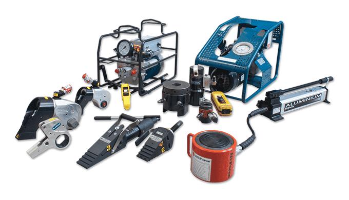Hydraulisk værktøj Hydraulisk specialværktøj til krævende opgaver fra store internationale anerkendte brands Onshore- og
