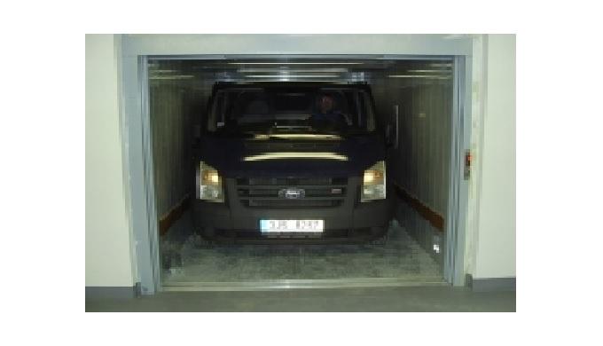 Samoobslužné autovýtahy, výtahy na přepravu automobilů