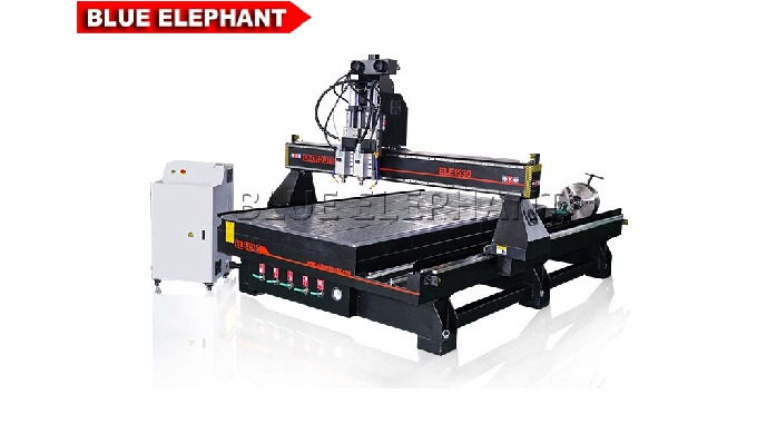 ELECNC-1530 Pneumatic System Double Spindles 4 Axis CNC Router