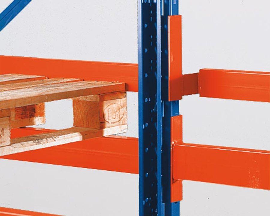 Für ein- und doppelseitige Regale, bei Verwendung von Distanzstücken. Einhängbar Alle Bauteile sind nach den einschlägig