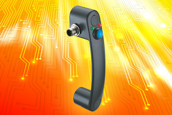 Elesa bridge pull handle with integrated micro switch for remote operation