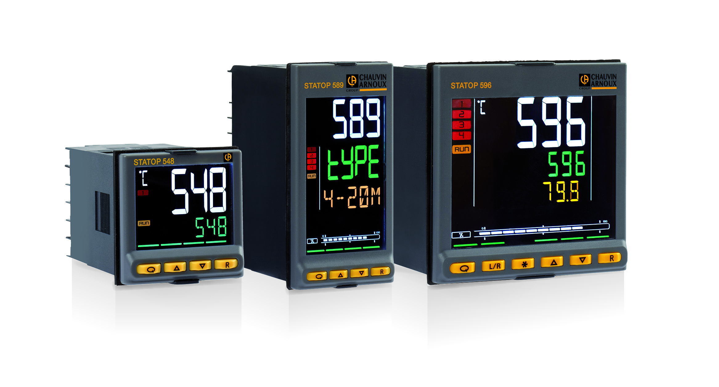 New 500 Series of temperature and process controllers