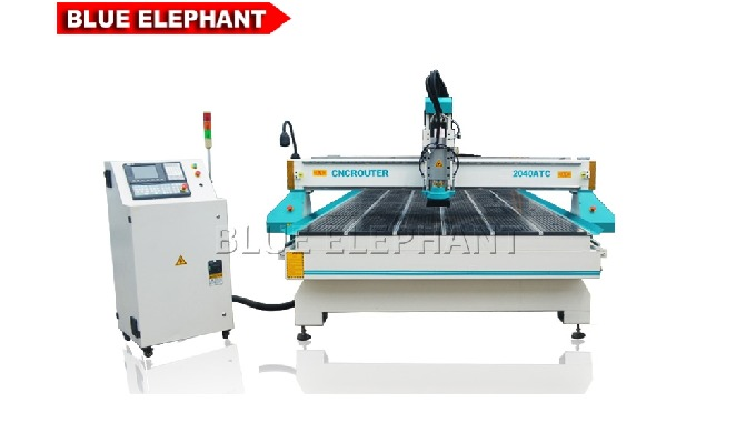 Features: 1. The machine was designed with linear tool change, which is likely to 4*8 ATC Wood CNC Router. besides, the