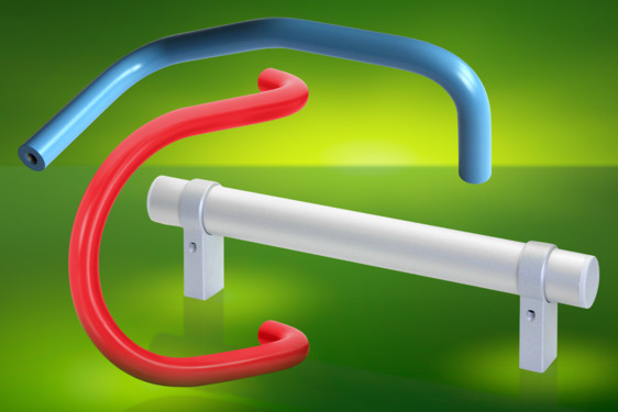 Elesa's GN333.3 tubular aluminium handles feature moveable shank mountings with polyamide end caps. They are available i