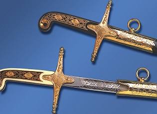 Ceremonial swords standard British patterns or we can make a sword specifically for you.