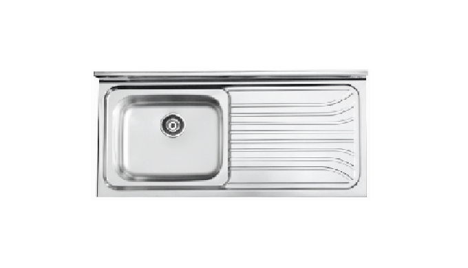 Layon Sink  (SS 1200 L/R) ㅣSingle sink bowl  | Kitchen Sink Drain kit - A single plate of sink and top