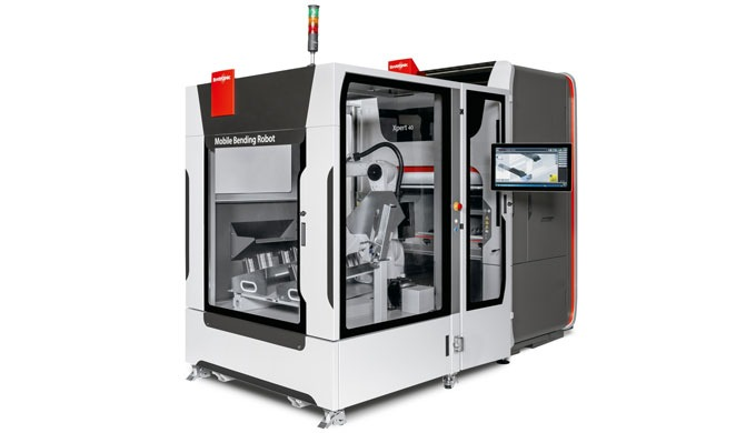 Mobile automation for high-speed bending Ideal for varying order situations. You manually bend complex small series and