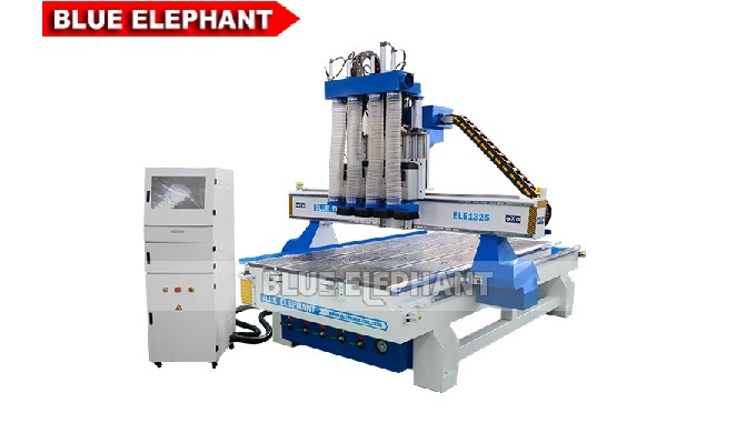 Features: 1. Except for this machine, there are another type of multi-spindle CNC Router Machine, just like 1325 Multi 8